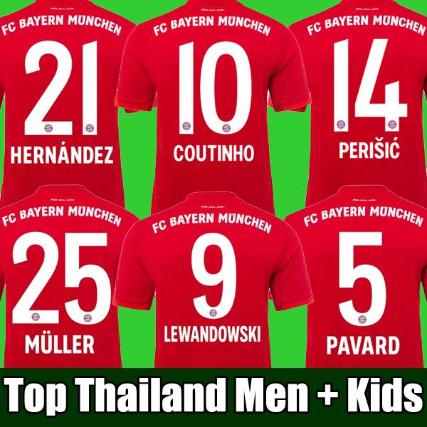 Grosshandel Thailand Coutinho 19 20 Bayern Munchen Perisic Fussball Trikot 2019 2020 Lewandowski Trikot Hernandez Fussball Trikot Munchen Von