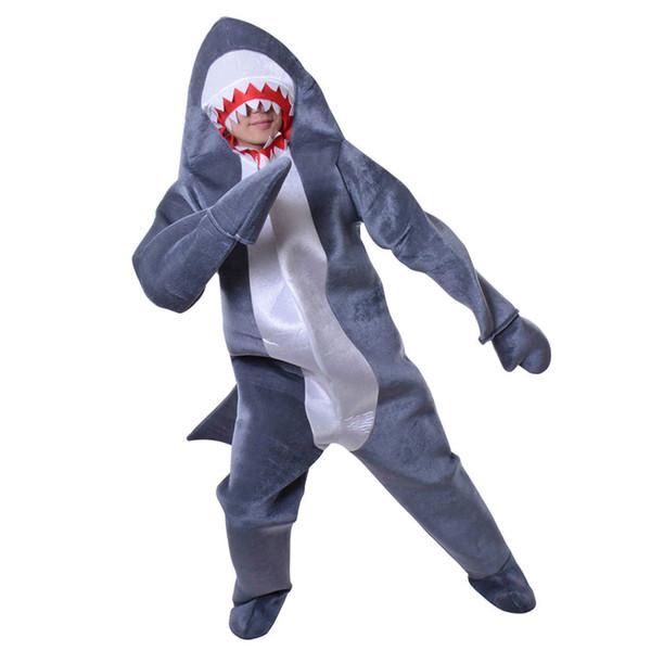Trajes Traje Azul Designer tubarão Costume Adult luvas longas da forma Unisex algodão animal, Figurino, Mascot