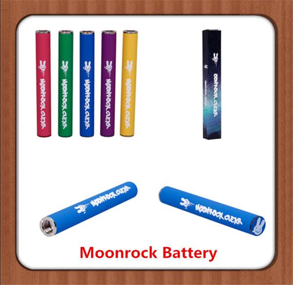 Moonrock Pil 350 mAh Şarj Edilebilir Vape Kalem Kartuşları Pil 7 Renk 10.5mm 510 Tomurcuk Dokunmatik Pil LED Işık Moonrock Temizle Arabaları için