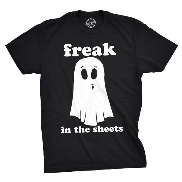 Details zu Mens Freak In The Sheets Tshirt Funny Bedsheet Ghost Halloween Tee For Guys Funny free