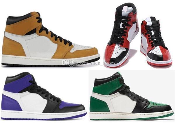 Новый 1 Новичок Года 1с Суд Фиолетовый Сосна Зеленая Обувь для Баскетбола Мужчины Женщины Посвящение Дома Кроссовки Высокого Качества С Коробкой