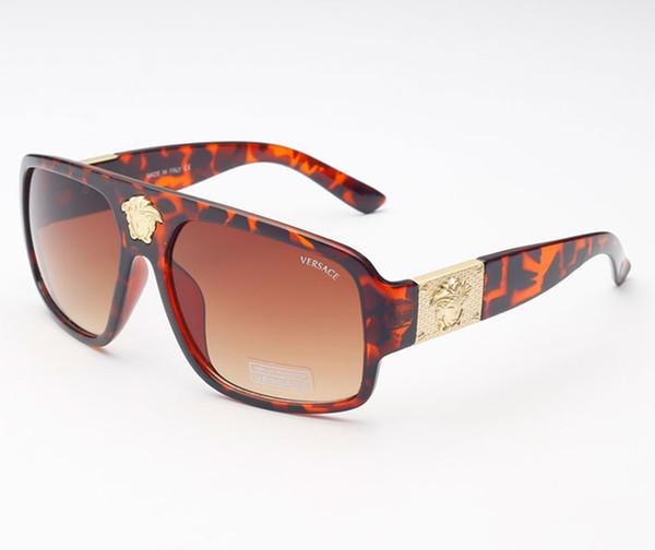 Women Brand Design Sunglasses Medusa Fashion Popular Sun glasses Cheap UV400 Square Frame medusa Sunglasses 5015