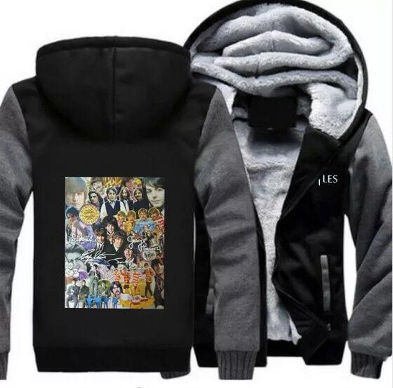 Chicago Blackhawks Winter Hoodie Zipper Coat Thicken Jacket Fleece Sweatshirt