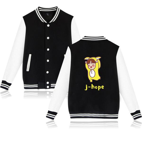 XXS-4XL BTS Bangtan Boys Baseball Jacket Casual Harajuku Sweatshirt Outwear Famous Man Cartoon J-hope Printed Streetwear Tops