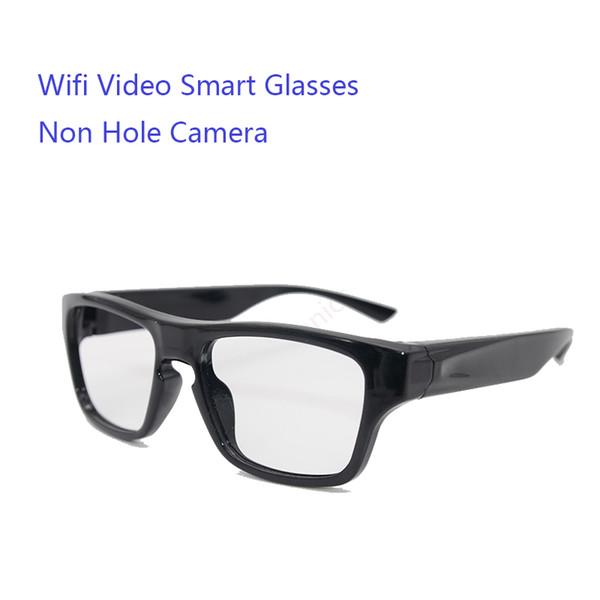 2019 Nuevo popular mini portátil inteligente táctil 1080P control remoto wifi seguridad cámara de video hd gafas con cámara de grabación de tiempo largo