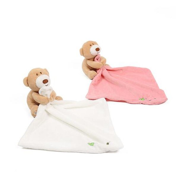 INS orsacchiotto per bebè telo per neonati Consolatore per orsacchiotto BIBS INFANT in peluche Ripiene lavabile Coperta Bavaglini morbidi Asciugamano ToyS 24 * 24 CM 3 colori