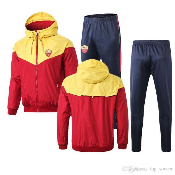 new 2019 2020 Roman windbreaker training suit 19 20 TOTTI ROSSI DZIKO football jacket sportswear Training suit