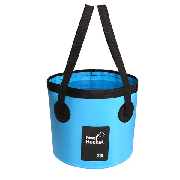 top popular 12L 20L Container Portable Hike Water Storage Outdoor Camping Collapsible Folding Bucket Fishing Travel With Carry Belts Carrier 2019