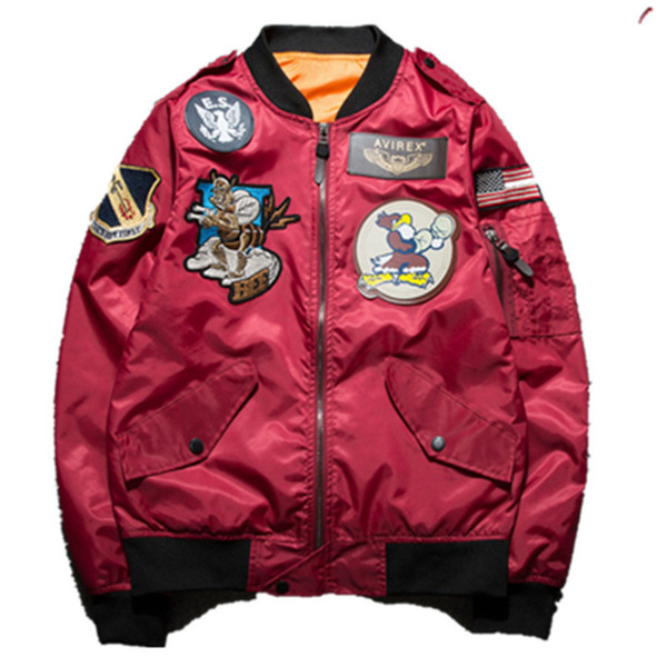 Ma1 Men Winter Warm Military Airborne Flight Tactical Bomber Jacket Army Air Force Fly Pilot Jacket Aviator Motorcycle Thin Coat