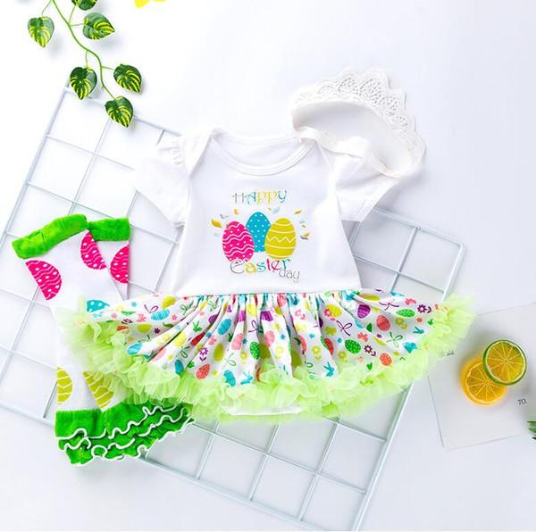 Großhandel 2019 Baumwolle Baby Mädchen Kleidung 1 Jahr 1 Ostern Kleid Party Kleider Für Mädchen Kleinkind Kinder Taufe Kleid Tutu Outfits Mit