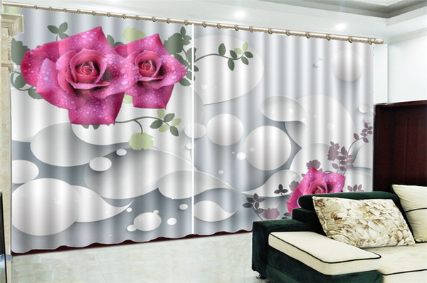 2019 3d Print Curtain For Living Room Price White Floating Ball Gorgeous  Rose 3d Digital Printing HD Practical Beautiful Curtains From Yunlin189, ...