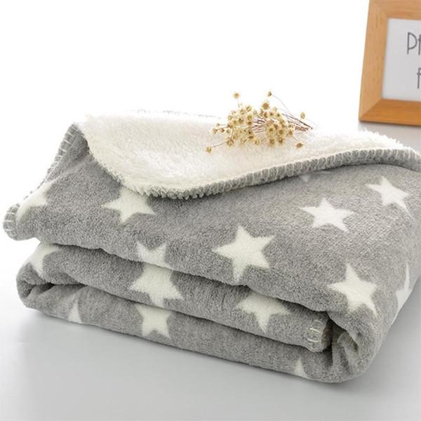 Толстые руно Одеяло плюша фланель Бросьте Extra Soft Теплый Одеяло Двойной слой младенца Swadding Wrap для новорожденных Постельные принадлежности