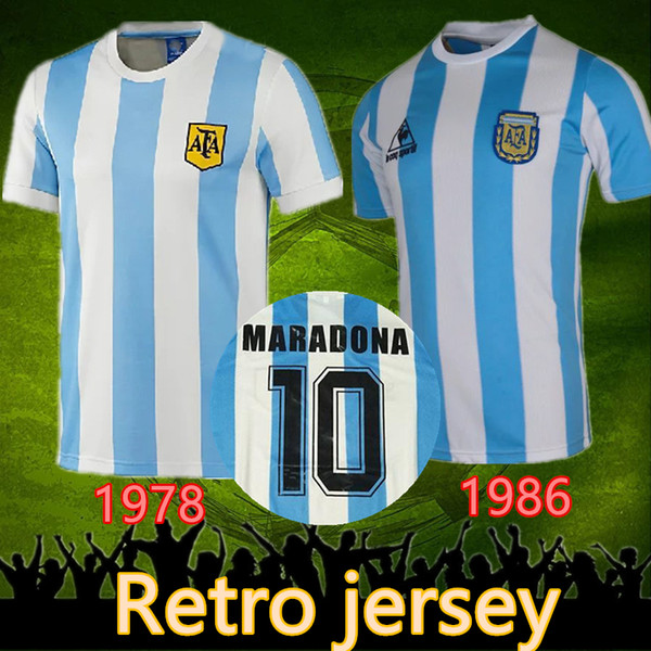 1986 argentinien retro fußball jersey maradona 86 vintage classic 1978 retro argentinien maradona 78 fußball shirts maillot camisetas de futbol