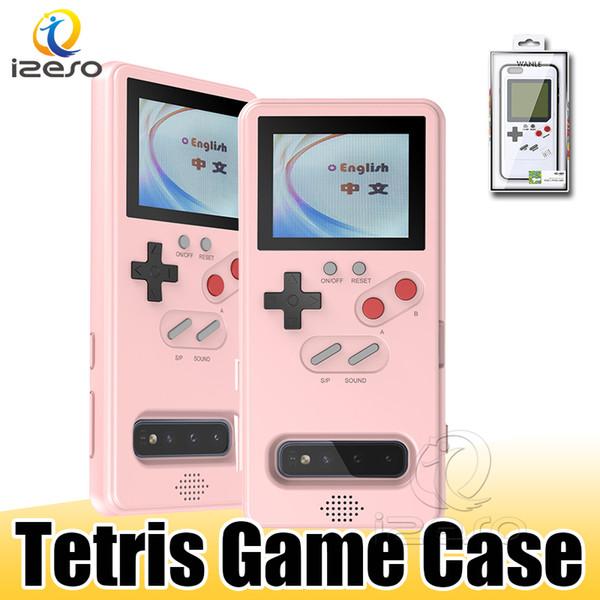 Para Samsung Galaxy iPhone S10 Pro Max 11 XR Game Boy Tetris retro Consolas Moblie Teléfono de nuevo caso de TPU PC a prueba de golpes Protección cubierta de Shell
