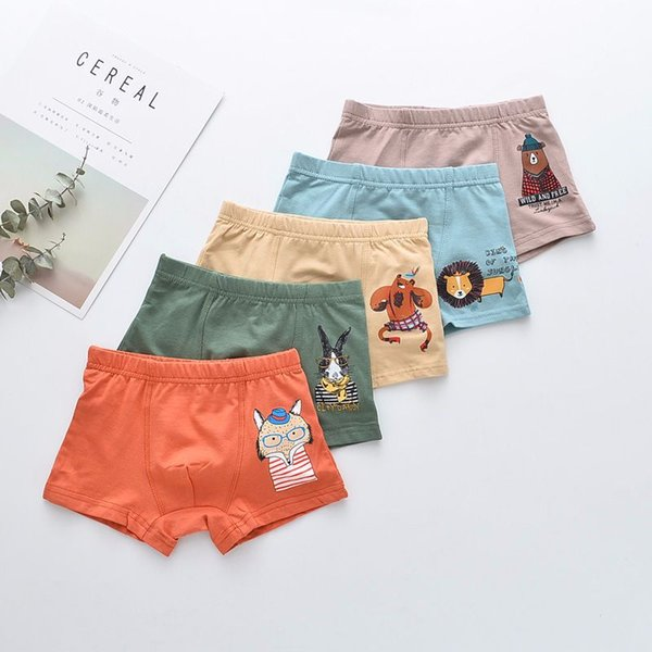 25Pcs Lot Boys Artwork print Children's underwear boxers kids underpants Suitable for 2 years to 9 year old girls flat thin panties S19JS150