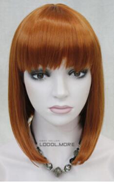 Бесплатная доставка БОБ Оранжевый - коричневый короткие женские дамы Daily Hivision синтетический парик