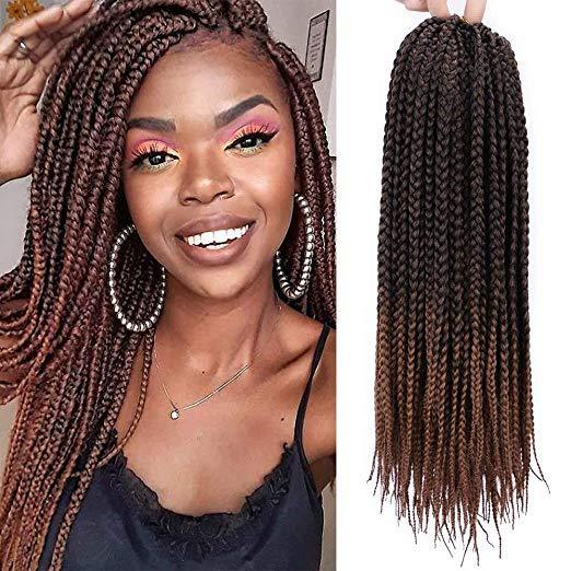 2019 18 Inch Straight Box Braids Crochet Hair Extensions Dreadlocks Twist Crochet Braids Hairstyles Kanekalon Braiding Hair Braid Styles From