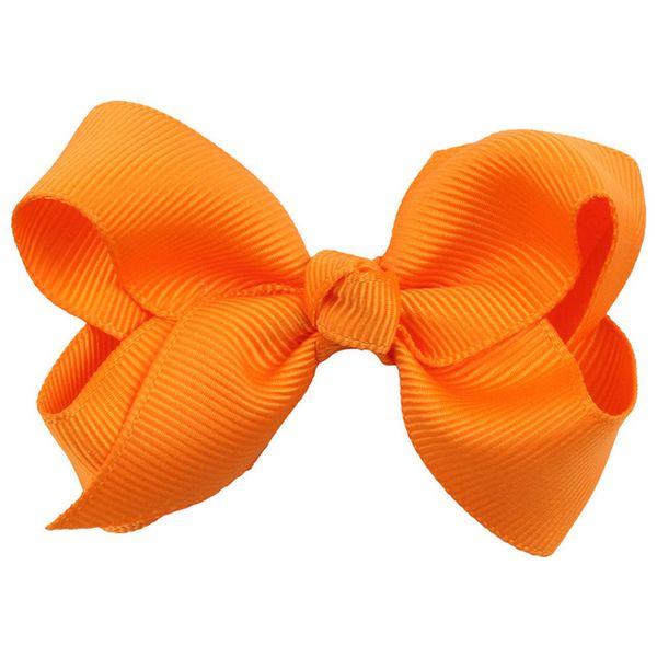 $1 links 3 Inch Soild Kids Girls Ribbon Hair Bow Clips with Hairpins Boutique Hairclips Hair Accessories Handmade Princess Headwear 3pcs/