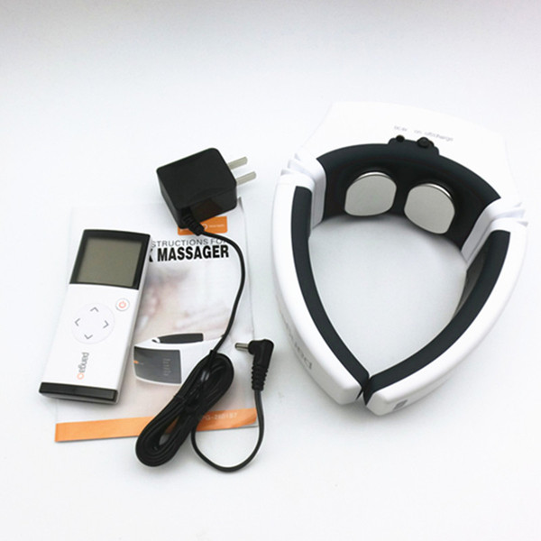 High-end Health Care neck cervical traction EMS therapy massage collar infrared heating magnet vibration massager Pain Relief