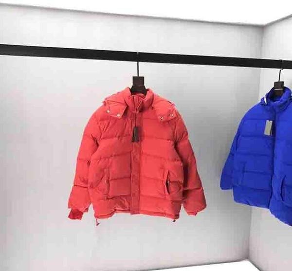 19FW Mens конструктора куртки осень зима Гладкая ткань письма PARIS башня Корона хлопка пальто Верхнее качество с капюшоном с длинным рукавом 6511