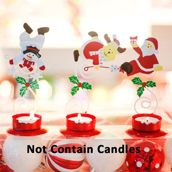 2019 Christmas Home Decor Candlestick Desktop Decoration Craft Festival Party Supplies