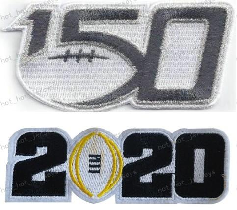 150TH & 2020 black number patches