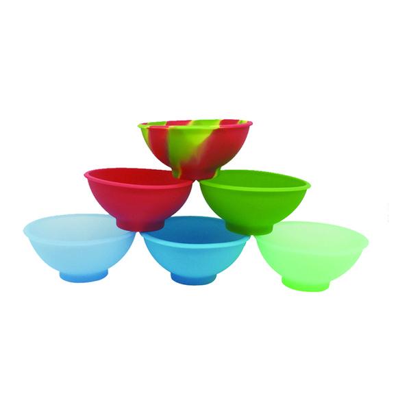 6.7x3.2 Cm Silicone Pinch Bowl Flexible Deep Dish Container Heat-resistant Oil Slicks Dab Jars 500 Pcs/lot