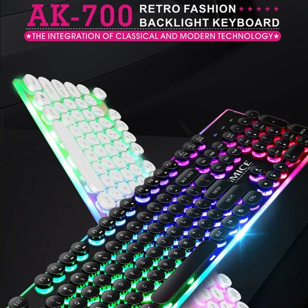 IMICE AK-700 Retro Punk Gaming Mechanische Tastatur Wired Backlit LED Gamer Desktop-Key Panel Gaming Keyboard