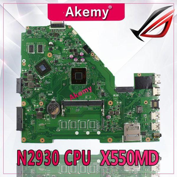 Akemy X550MD Laptop Motherboard für ASUS X550MD X550M X552M X550MJ R513MD R513MJ Testen Sie das Original-Mainboard N2930 / N2940 CPU