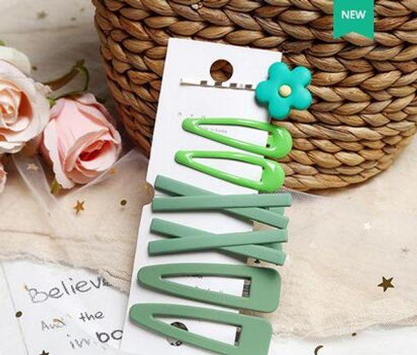 accesorios para el cabello horquilla hembra palabra simple clip de color de caramelo pequeño clip lindo gorro de horquilla