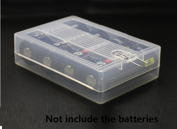 Portable Hard Plastic Case Holder 26650 battery Storage Boxes for 4 x 26650 Batteries 26650 Battery Holder container Organizer With Hook