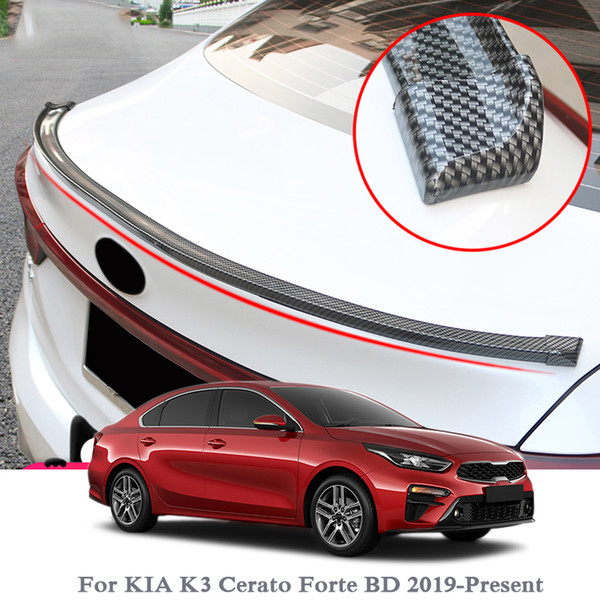 Car-Styling 5D Spoilers de fibra de carbono Styling DIY Refit Spoiler para Audi BMW Toyota Honda KIA K3 Hyundai Opel Mazda Ford Skoda