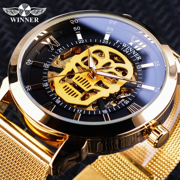 Genuine WINNER new automatic mechanical watch personality net with men's watch automatic mechanical watch luminous table