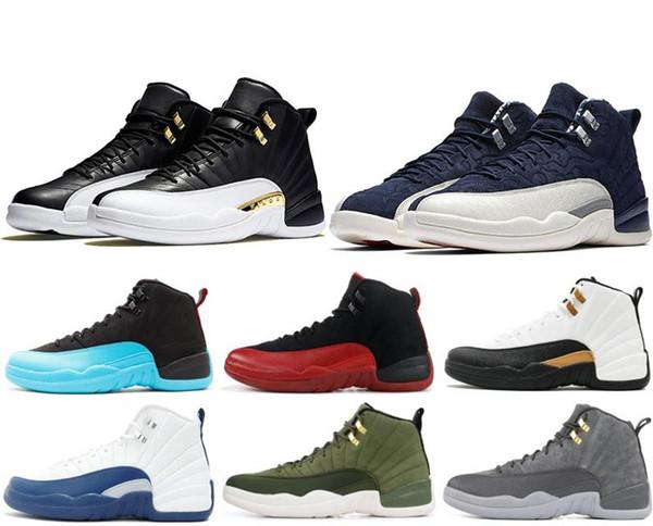 erkekler basketbol ayakkabıları CNY 12 12S beyaz Grip Oyun CNY koyu gri Taksi playoff Fransız Mavi erkek ayakkabı tasarımcısı US7-US 13 ovo