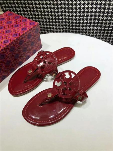 HEIßER Designer Sandalen Tory Klassische Komfortable Luxus Flip-Flops Multi Color Best Selling Girl Dias Womens Slide Größe