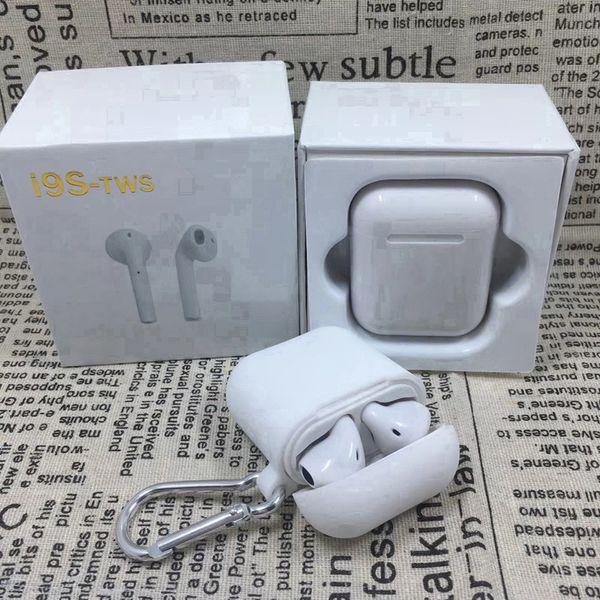I9S-TWS I9 I9S tws sem fio fones de ouvido bluetooth ture estéreo fones de ouvido fones de ouvido com carregador case capa protetora para iphone samsung 001