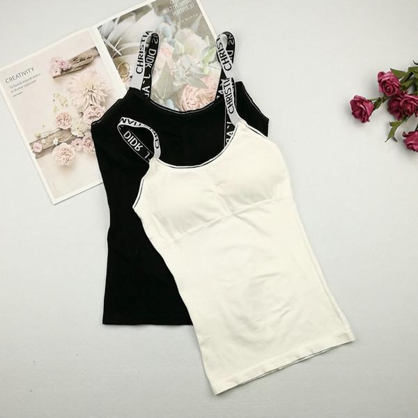 Elegante Frauen-beiläufige Trägershirts Sommerfrauen kein Stahlring integriert mit Kasten-Auflage-Weste, die Hemd beiläufiges ärmelloses Oberseite unten liegt