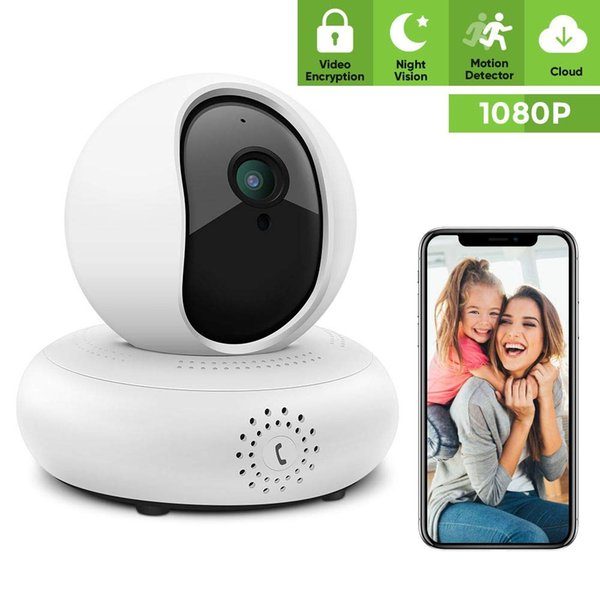 Security Camera Wireless IP Camera - 1080P Indoor Pet WiFi Camera Full HD Indoor Video Surveillance System with IR Night Vision