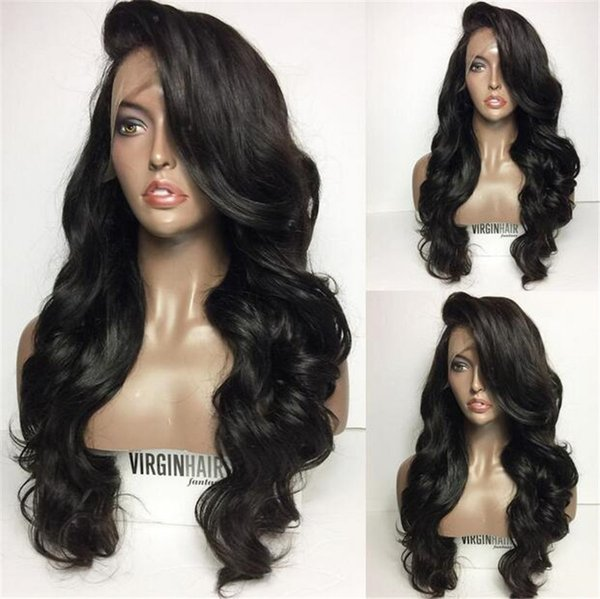 Pre Plucked Lace Front Wigs with Baby Hair Vendors Brazilian Peruvian Malaysian Wet and Wavy Human Hair Frontal Wig for Black Women