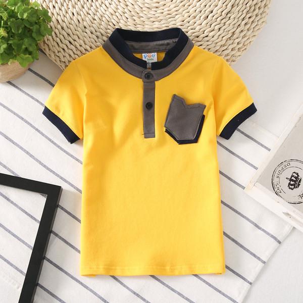 2019 Kids Polo Shirt Детская одежда Верх для мальчиков Одежда детская футболка