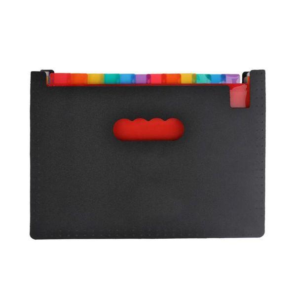 Paper Expanding File Folder Pockets Accordion Document Organizer Durable Bag CB
