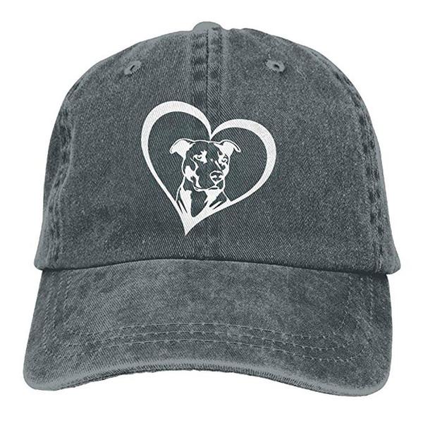 2019 New Wholesale Baseball Caps Print Hat Pit Bull Heart Mens Cotton Adjustable Washed Twill Baseball Cap Hat