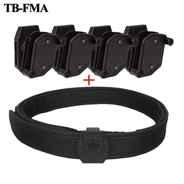 TB-FMA IPSC Belt Holster Speed Magazine Pouch Set Concorrência Tiro Tático Mag Coldre Pistol Revista Rápida Bolsas # 72587