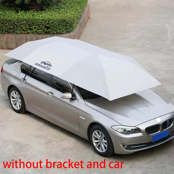 best selling Windproof Outdoor Car Vehicle Tent Umbrella Sunshade Roof Cover Anti-UV Kit Car Umbrella Foldable Sun Shade
