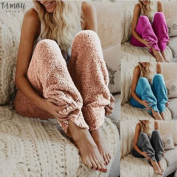 Yeni Moda Kadın Kürk Sıcak Spor Tozluklar sporları Kış Fleece Rahat Legging Pantolon 9,12 Damla Nakliye İyi Kalite