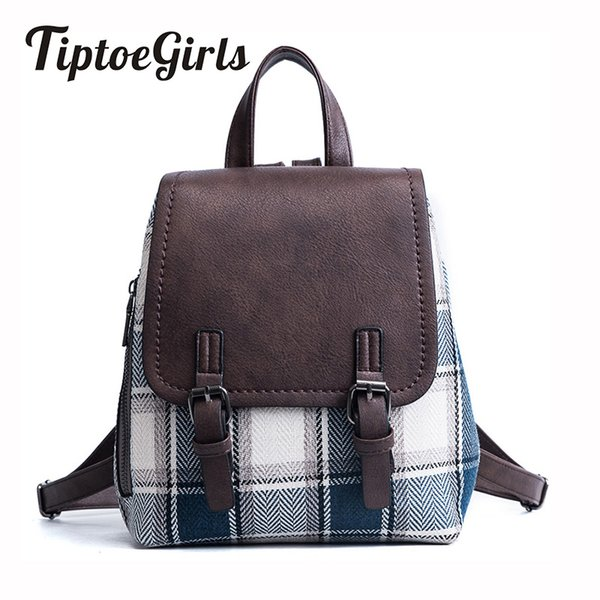 2018 New Korean Fashion Trend of Personality Stitching Hit Color Shoulder Bag Female Wild Casual College Wind Backpack