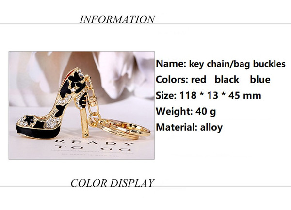 2020 Shoes Keychain Purse Pendant Bags Cars Shoe Ring Holder Chains Key Rings For Women Gifts Women acrylic High Heeled