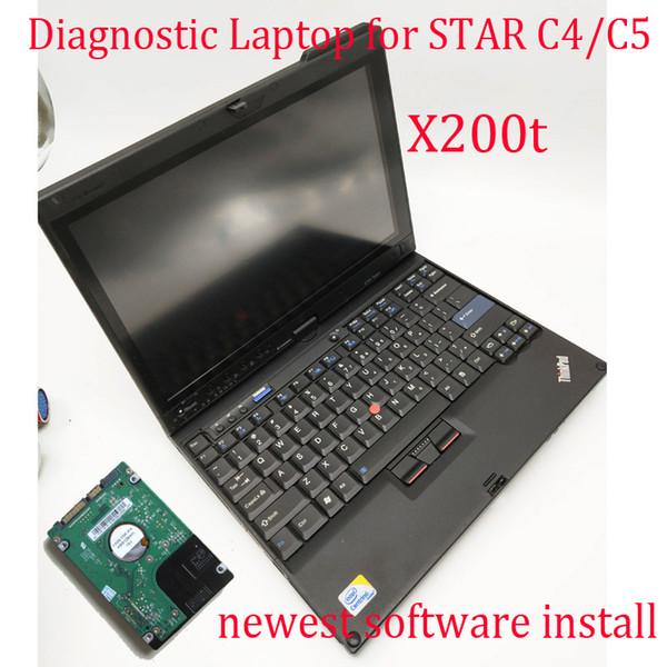 Professional Diagnostic Laptop X200t Newest V2019.03 Software Installed for MB Star C4 / MB Star C5 OBD2 Diagnostic Scanner