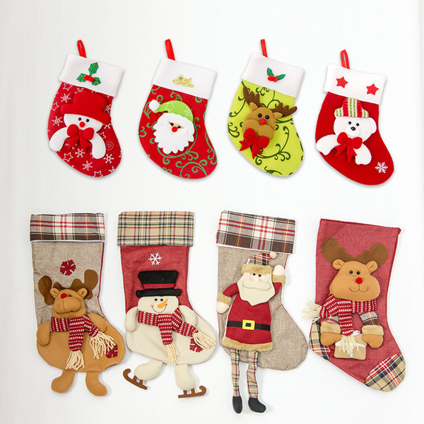 47*27cm Cartoon Christmas Stockings Children Gift Bagss Home Hanging  Stockings Xmas Tree Ornament DHL Christmas Decorating Items Christmas  Decorating ...