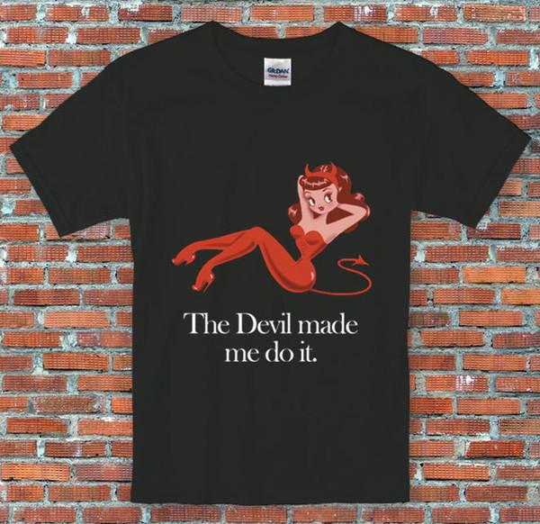 Abadon 'Şeytan bana yaptım' Supernatural Inspired T Gömlek Sml XL 2XL Boyutu Disko Sıcak Yeni Tshirt Marka gömlek kot Baskı